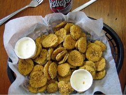 Texas-roadhouse-fried-pickles  just decided on a whim that I wanted to make these. googled recipes and turned out to have all the ingredients for this one. its REALLY good and its TEXAS style! ;)