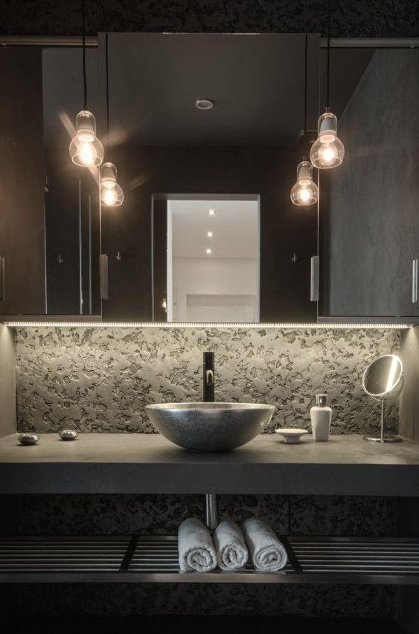 stunning bathroom in a renovated attic apartment by OOOOX