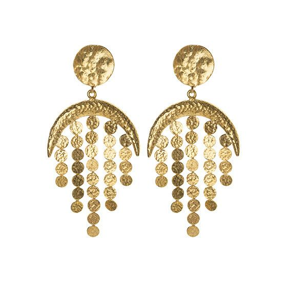 Aquarius Earrings Gold