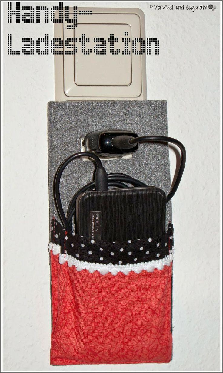 Vervliest und zugenäht: Handy-Ladestation