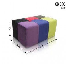 6 Colour Rectangular Footstool Sofas Brighton