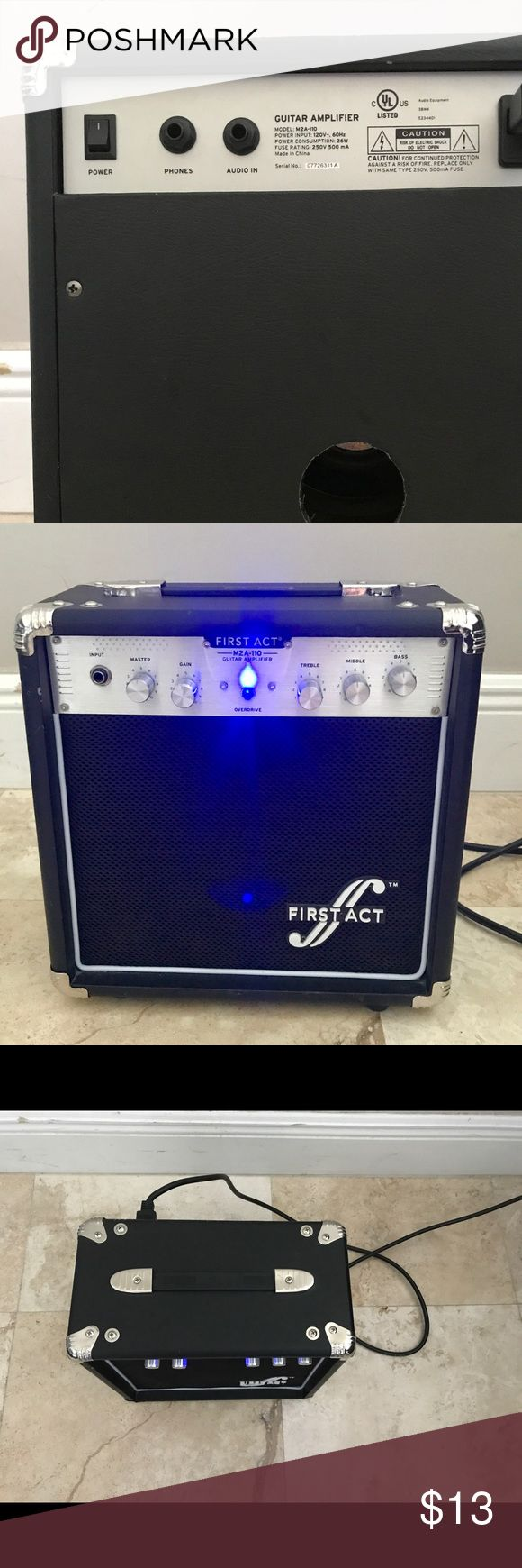 Guitar Bass Amplifier First Act: M2A-110 Almost new. Only used a few times. First Act Amplifier. First Act Other