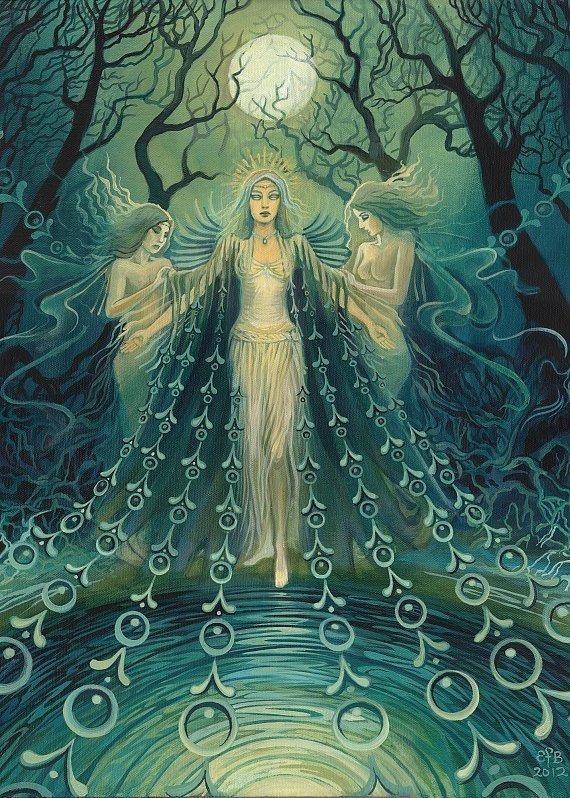 Nyx Greek Goddess Of The Night 5x7 Blank Greeting Card Pagan
