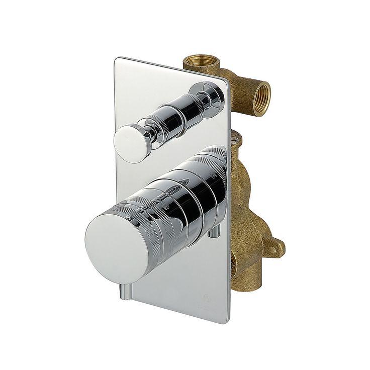 Mitigeur thermostatique encastre - Deux voie - Complet