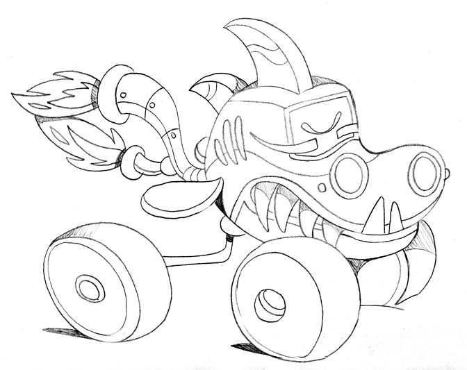 Monster Legends Coloring Pages Sketch Coloring Page: Prowler Monster Truck Coloring Pages Sketch Coloring Page