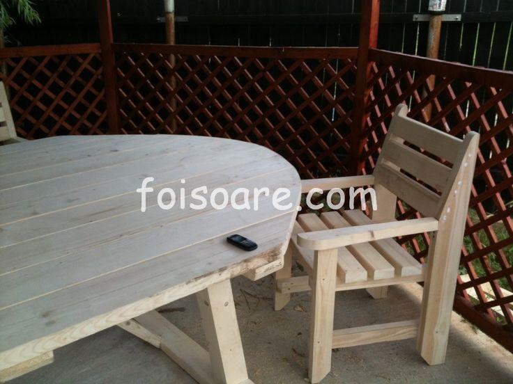 mobilier de terase din lemn rustic