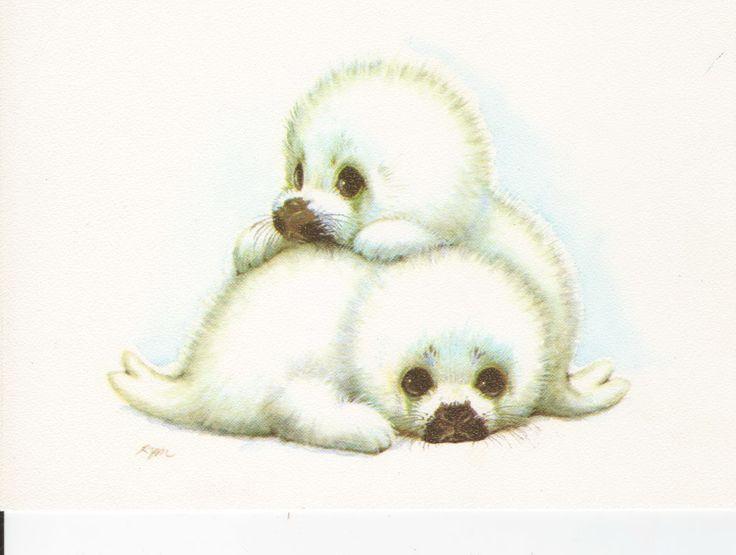 baby seals.. Ruth Moorehead