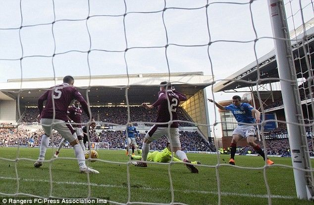 Jamie Murphy scoring against Hearts.