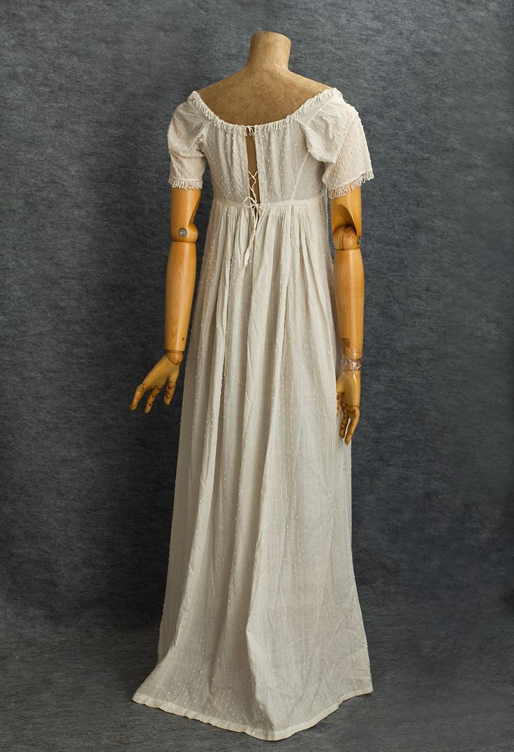 Antique Clothing at Vintage Textile: #2807 Neoclassical ball gown