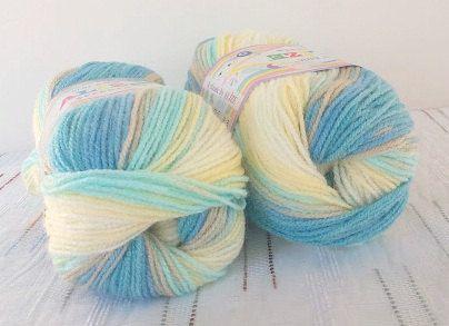 Baby yarn acrylic yarn Multicolor Rainbow soft by Yarnshopping