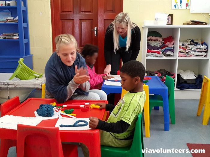 Volunteer with Via Volunteers in South Africa and join this wonderful educational enrichment project. Help with fun activities, reading stories, singing songs and child care at Fikelela Children's Home in Khayelitsha near Cape Town.