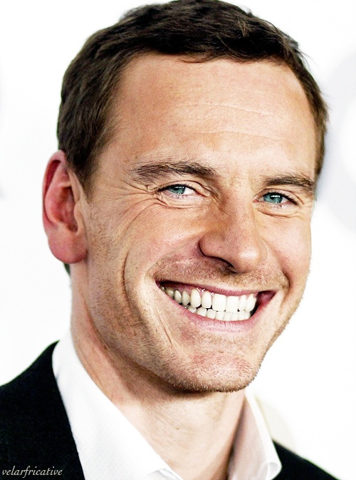 Michael Fassbender.  I love this one because it perfectly captures his personality and amazing life force.
