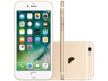 "iPhone 6s Apple 128GB Dourado 4G Tela 4.7"" Retina - Câm. 12MP + Frontal 5MP iOS 10 Proc. Chip A9"