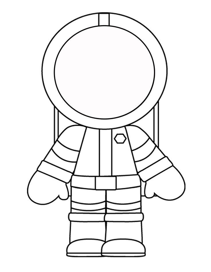 Vorlage von einem Mini-Astronauten