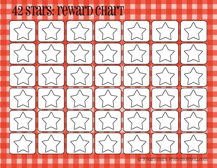 Plaid Reward Charts 42 Stars Free Printable Downloads
