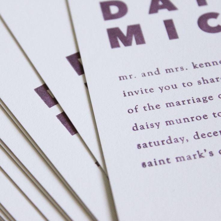 Delicate Elegance Letterpress Wedding Invitations | Fun ... |Inexpensive Wedding Invitations Letterpress