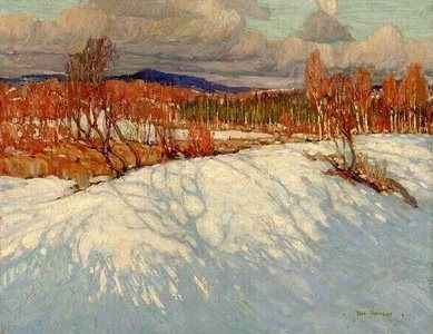 Tom Thomson (Canadian, 1877–1917) In Algonquin Park, 1914. Oil on canvas, 63.2 x 81.1 cm.