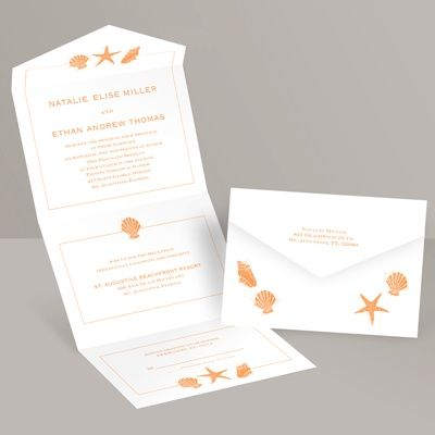 Lovely Shells - Seal and Send Invitation at Invitations By Dawn