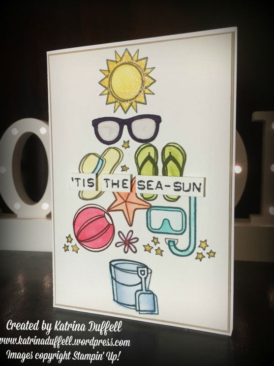 Australian Christmas Phrase & Christmas Card, 'Tis the Sea-Sun, Day at the Beach Stamp Set - Stampin' Up! - Katrina Duffell - Independent Stampin' Up! Demonstrator, Sydney, Australia