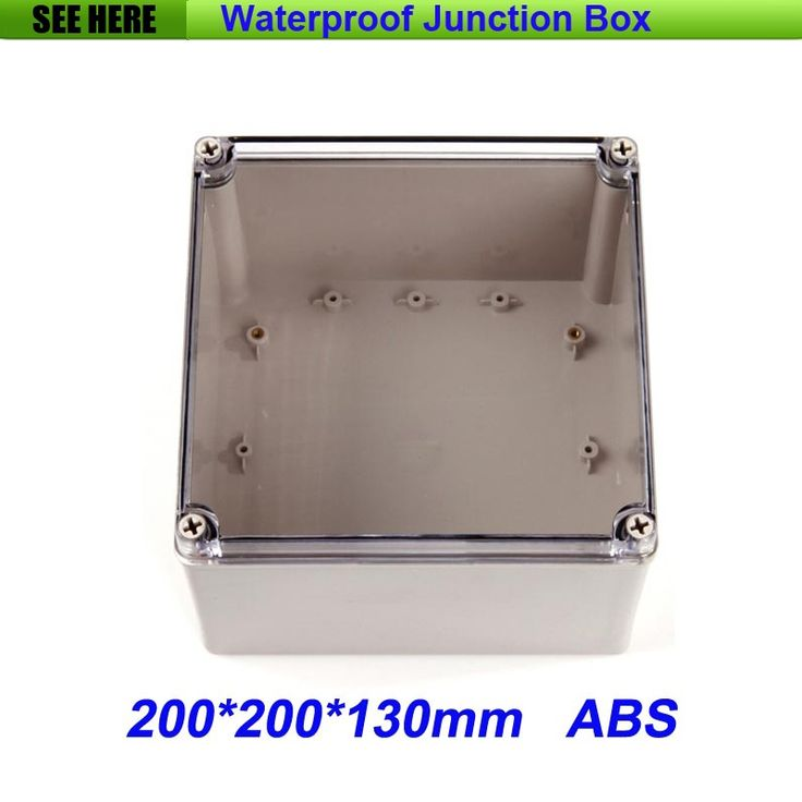 24.20$  Buy here - http://ali7gh.shopchina.info/1/go.php?t=32522464240 - Free Shipping Good Quality ABS Material Transparent Cover IP66 waterproof electric meter box 200*200*130mm  #aliexpressideas