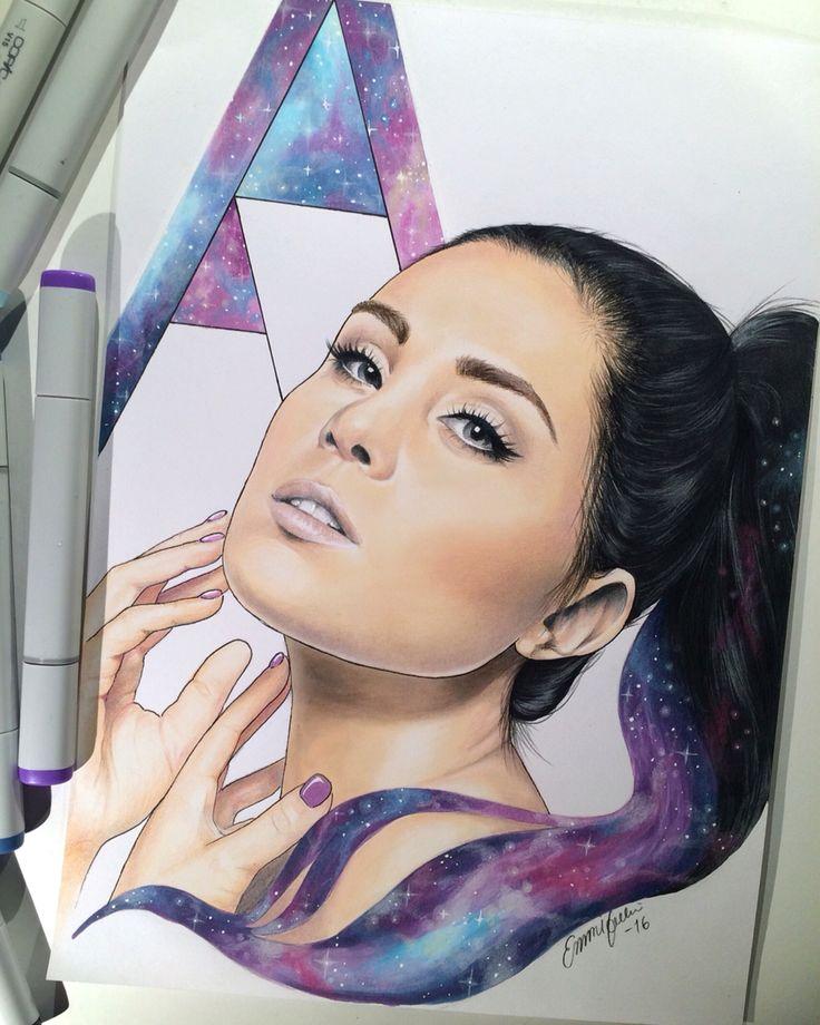 A4 drawing of Anna abreu