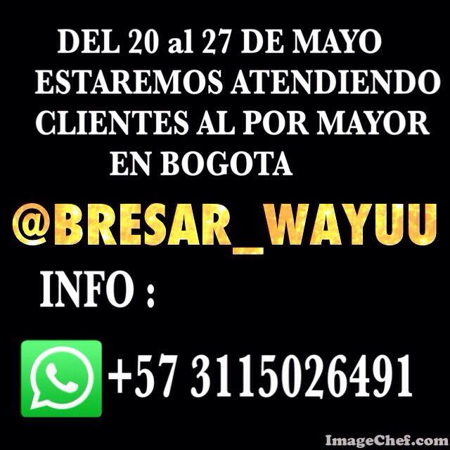 @BRESAR_WAYUU        @BRESAR_WAYUU @BRESAR_WAYUU      TRADICION ! CULTURA ! EN CUERPO MENTE Y ALMA ! ✌️❤️NUESTRAS VENTAS LO DICEN TODO ! NUMERO UNO EN VENTAS AL POR MAYOR MASIVAS !!!!!!! NO TE QUEDES SIN LA TUYA ! COMPRAMOS DIRECTAMENTE A LOS INDIGENAS WAYUU, MOCHILAS HERMOSAS EN CRISTALES O SIN DECORAR  SORPRENDE A TU NOVIO O ESPOSO CON UNA ORIGINAL MOCHILA WAYUU MASCULINA ! DISEÑOS QUE INSPIRAN SENSACIONES NUEVAS BRILLA HASTA DONDE TU QUIERAS , LOS MEJORES PRECIOS AL MAYOR Y DETAL…