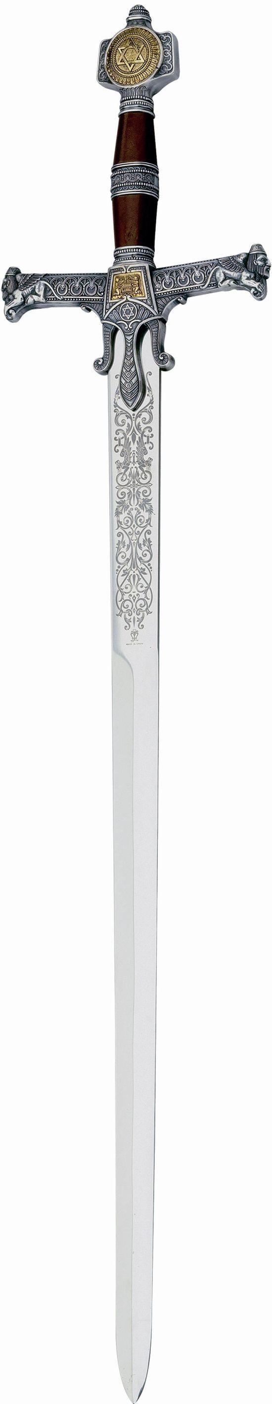 # RCMA586.2TS Silver King Solomon Sword by Marto of Toledo Spain