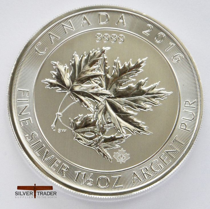 2016 Canadian Multileaf Maple 46 gram Silver bullion Coin features a number of design features previously introduced by the Canadians on its 1.5 ounce coins