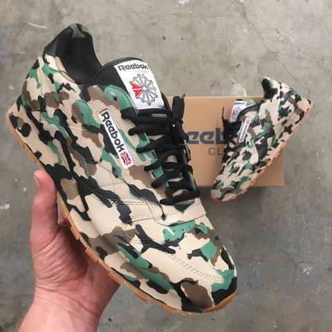 Reebok classics, Custom painted shoes