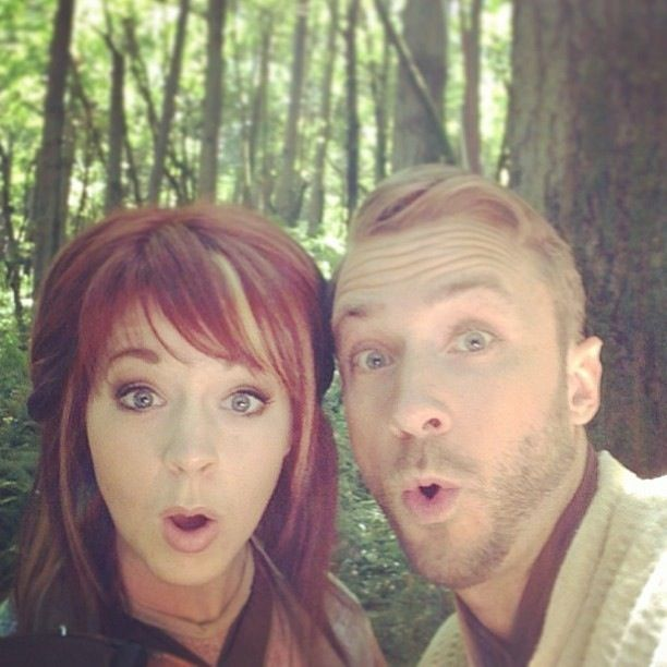 Lindsey Stirling and Peter Hollens