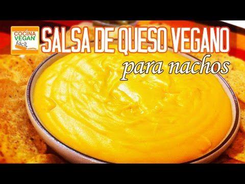 Salsa de queso tipo cheddar para nachos (vegana) - Cocina Vegan Fácil