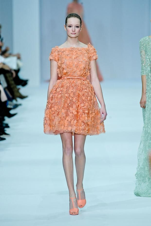 Coral rugs, red rugs, Elie Saab, Haute Couture, Paris 2012