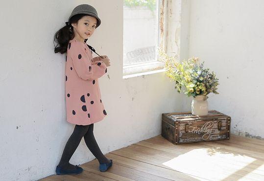 Korea children's No.1 Shopping Mall. EASY & LOVELY STYLE [COOKIE HOUSE] Petite Dot One Piece / Size : 7 ~ 15 / Price : 29.00 USD #cute #koreakids #kids #kidsfashion #adorable #COOKIEHOUSE #OOTD #dress #dotdress #kidsdress