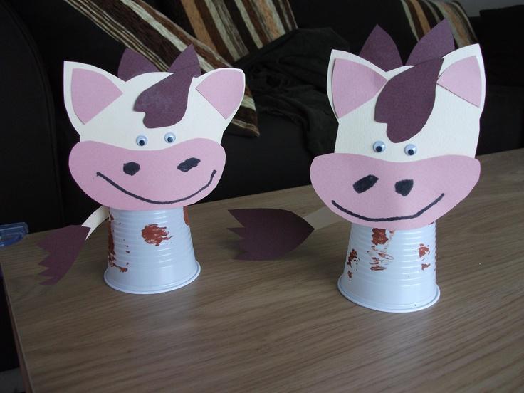 Knutselen 3d: koeien