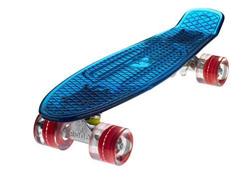 Ridge Skateboard Mini Cruiser, Blau/Rot, One size, BLAZE-BLUE-RED