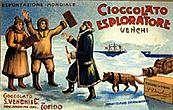 Manifesto Venchi Cioccolato esploratore. Fonte: Venchi S.p.a., Castelletto Stura (Cn)