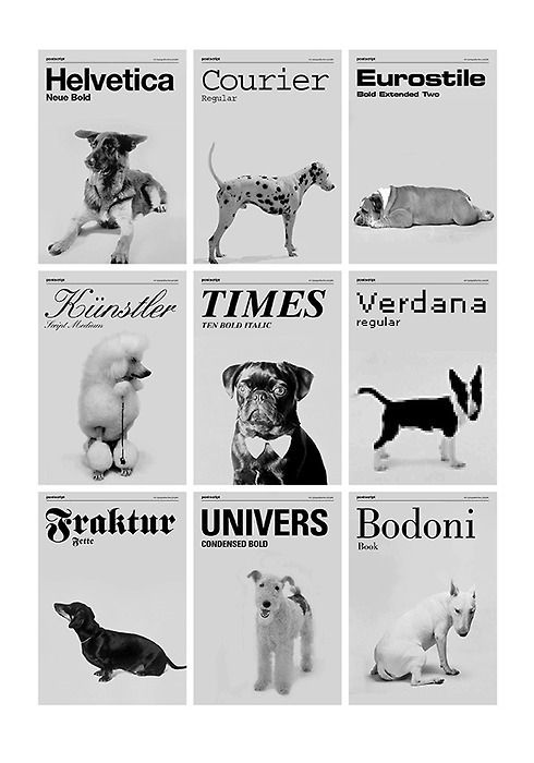 Great illustration of how each font has a feeling attached to it.