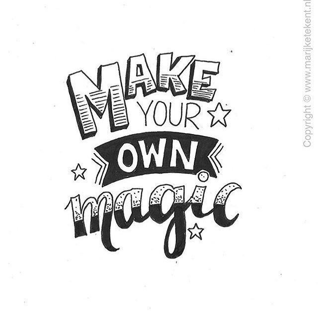 Maak je eigen magie ♥️
