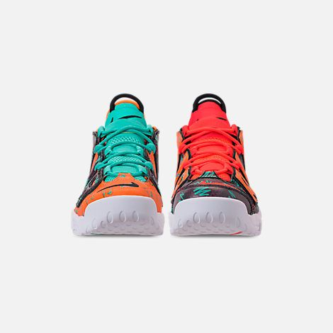 size 40 31246 2a44c Front view of Boys  Big Kids  Nike Air More Uptempo Premium Basketball Shoes  in Total Orange Black Hyper Jade Bordeaux