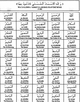 Islamic World: 99 Names Of ALLAH-1