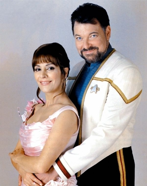 Captain William T. Riker and Counselor Commander Deanna Troi-Riker, (Jonathan Frakes, Marina Sirtis); STAR TREK Nemesis - Wedding Photo