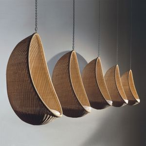 """Hanging """"Egg"""" wicker chair, 1957"""