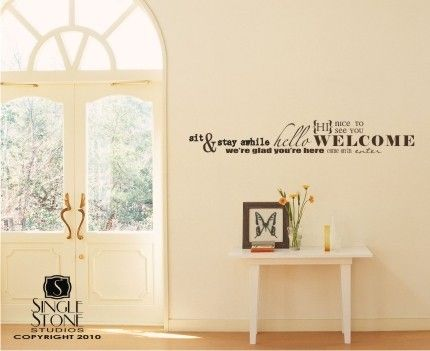 Wall Decal Quote Welcome Word Collage  Vinyl by singlestonestudios, $38.00