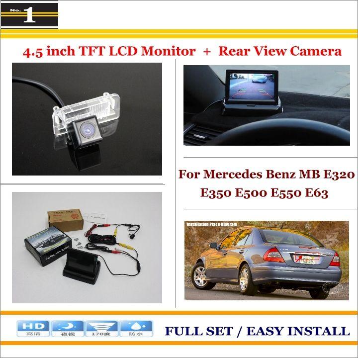 "Car Reverse Rear Camera + 4.3"" TFT LCD Monitor = 2 in 1 Parking System - For Mercedes Benz MB E320 E350 E500 E550 E63"