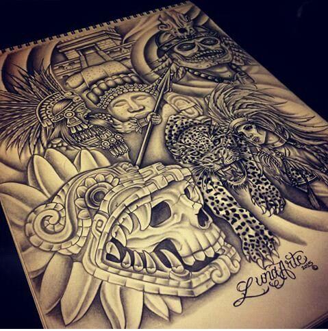 79 best buenas ideas images on pinterest aztec tattoo for Jaguar warrior tattoo