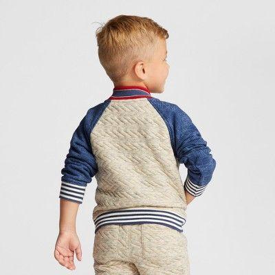 Toddler Boys' Bomber Jacket - Genuine Kids from OshKosh Oatmeal 12M, Size: 12 Months, Gray