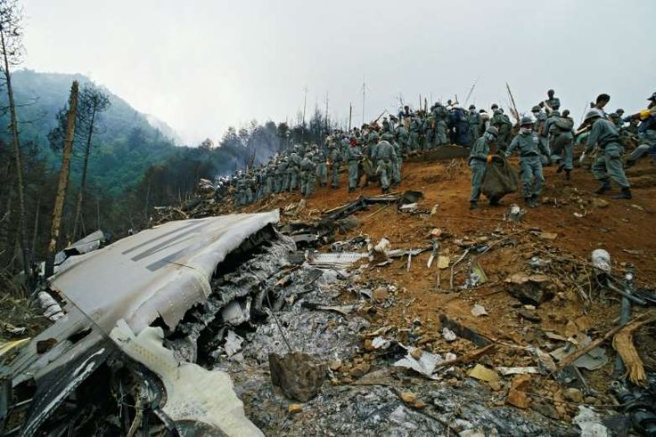 August 12,1985: JAPAN AIRLINES FLIGHT 123 CRASHES  -   The world's worst single-aircraft disaster occurs as a crippled Japan Airlines Boeing 747 on a domestic flight crashes into a mountain, killing 520 people. (Four people survived.)