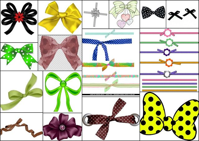 Bows in Colors for your Quinceanera.