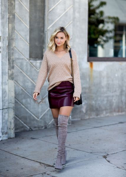 318f991d7 45 Women Fashion Over The Knee Boot Outfit Looks Outstanding - 101outfit.com