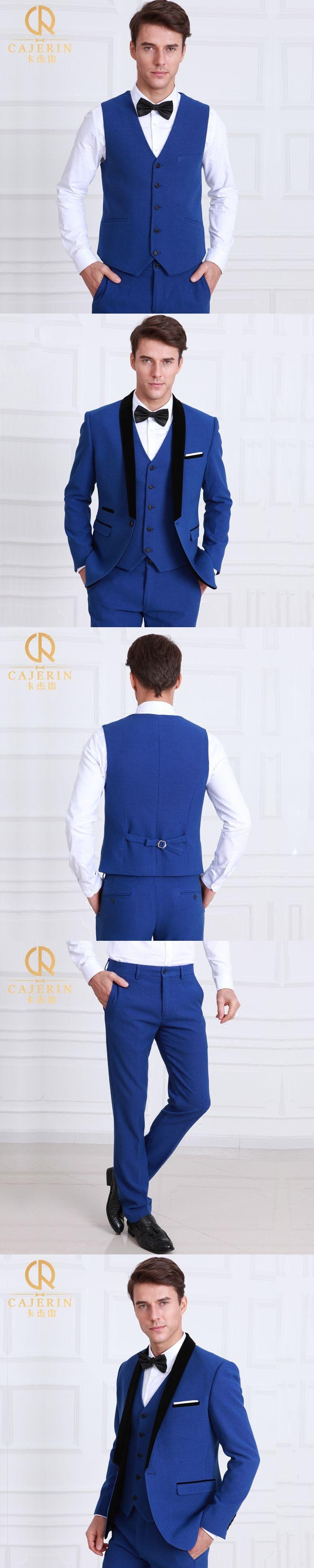 Pre Sale Men Suit Slim Fit Gentleman Royal Blue Tuxedo England Style Wedding Groom Prom Party Business Man Suits 3pcs Set